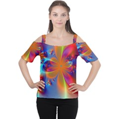 Bright Women s Cutout Shoulder Tee by Delasel