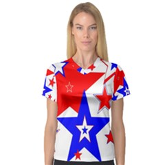 The Patriot 2 Women s V Neck Sport Mesh Tee by SugaPlumsEmporium