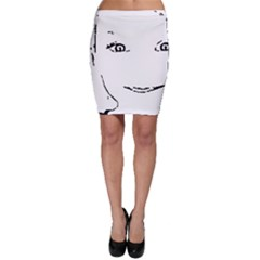 Portrait Black And White Girl Bodycon Skirts by yoursparklingshop