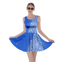 Blue White Christmas Tree Skater Dress by yoursparklingshop