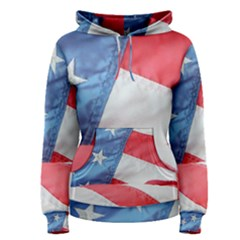 Folded American Flag Women s Pullover Hoodie by StuffOrSomething