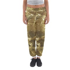 Gold Bar Golden Chic Festive Sparkling Gold  Women s Jogger Sweatpants by yoursparklingshop