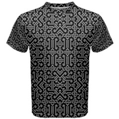 Black And White Ethnic Sharp Geometric  Print Men s Cotton Tee by dflcprintsclothing