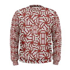 Interlace Tribal Print Men s Sweatshirt by dflcprintsclothing