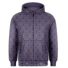 Stylized Floral Check Men s Zipper Hoodie by dflcprintsclothing