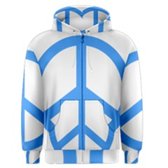 Blue Peace Men s Zipper Hoodie by TRENDYcouture