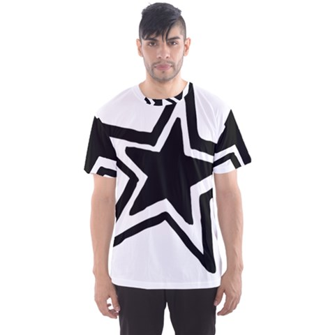 Double Star Men s Sport Mesh Tee by TRENDYcouture