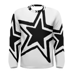 Double Star Men s Long Sleeve Tee by TRENDYcouture