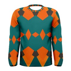 Rhombus And Other Shapes                                                                      Men Long Sleeve T Shirt by LalyLauraFLM