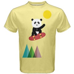 Panda On A Skateboard Men s Cotton Tee by Contest2490439