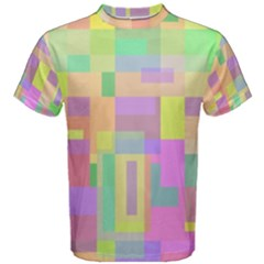 Pastel Colorful Design Men s Cotton Tee by Valentinaart