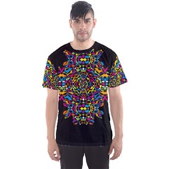 Stained Glass Pattern Men s Sport Mesh Tee