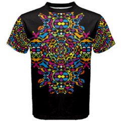 Stained Glass Pattern Men s Cotton Tee by Contest2492222