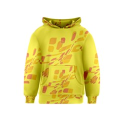 Yellow Abstraction Kids  Pullover Hoodie by Valentinaart