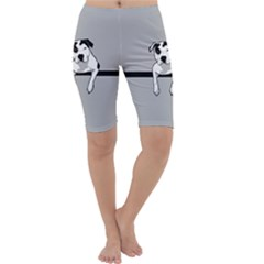 Pit Bull T  Bone Cropped Leggings  by ButThePitBull
