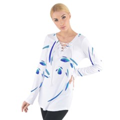 Blue Twist Women s Tie Up Tee by Valentinaart