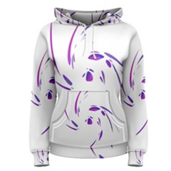 Purple Twist Women s Pullover Hoodie by Valentinaart