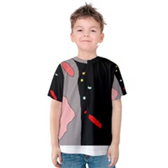Crazy Abstraction Kid s Cotton Tee by Valentinaart