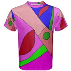 Pink Abstraction Men s Cotton Tee by Valentinaart