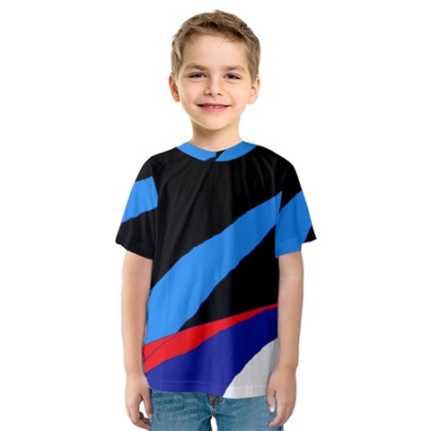 Colorful Abstraction Kid s Sport Mesh Tee by Valentinaart