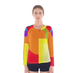 Colorful Abstraction Women s Long Sleeve Tee by Valentinaart