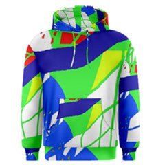 Colorful Abstraction Men s Pullover Hoodie by Valentinaart