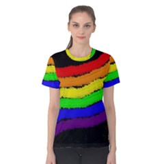 Rainbow Women s Cotton Tee by Valentinaart