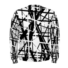 Black And White Abstract Design Men s Sweatshirt by Valentinaart