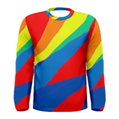 Colorful Abstract Design Men s Long Sleeve Tee by Valentinaart