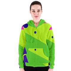 Colorful Abstract Design Women s Zipper Hoodie by Valentinaart
