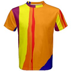 Hot Colorful Lines Men s Cotton Tee by Valentinaart