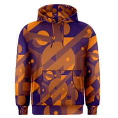 Blue And Orange Abstract Design Men s Pullover Hoodie by Valentinaart