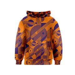 Orange And Blue Abstract Design Kids  Pullover Hoodie by Valentinaart