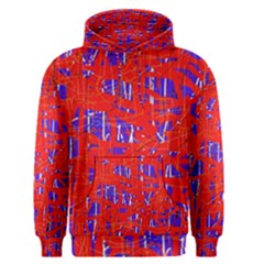 Blue And Red Pattern Men s Pullover Hoodie by Valentinaart