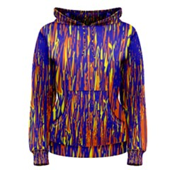 Orange, Blue And Yellow Pattern Women s Pullover Hoodie by Valentinaart