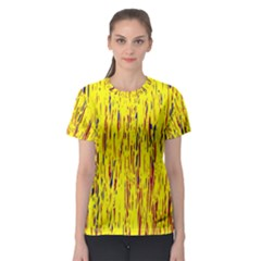 Yellow Pattern Women s Sport Mesh Tee by Valentinaart