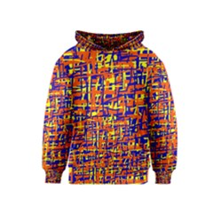Orange, Blue And Yellow Pattern Kids  Pullover Hoodie by Valentinaart