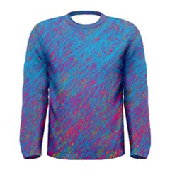 Blue Pattern Men s Long Sleeve Tee by Valentinaart