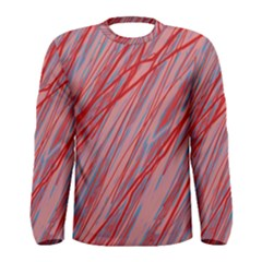 Pink And Red Decorative Pattern Men s Long Sleeve Tee by Valentinaart