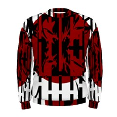 Red, Black And White Decorative Abstraction Men s Sweatshirt by Valentinaart