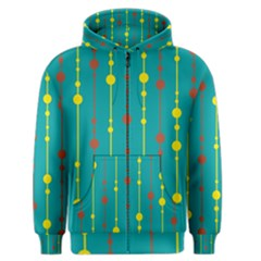 Green, Yellow And Red Pattern Men s Zipper Hoodie by Valentinaart