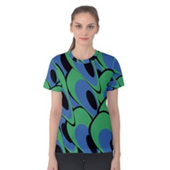 Peacock Pattern Women s Cotton Tee by Valentinaart