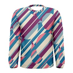 Blue And Pink Pattern Men s Long Sleeve Tee by Valentinaart