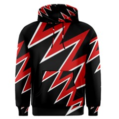 Black And Red Simple Design Men s Pullover Hoodie by Valentinaart