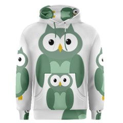 Green Cute Transparent Owl Men s Pullover Hoodie by Valentinaart