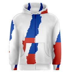 Flag Map Of Chile  Men s Zipper Hoodie by abbeyz71
