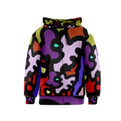 Colorful Abstraction By Moma Kids  Zipper Hoodie by Valentinaart