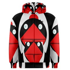 Duck Men s Zipper Hoodie by Valentinaart