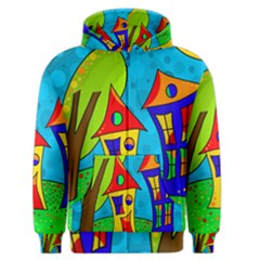 Two Houses  Men s Zipper Hoodie by Valentinaart