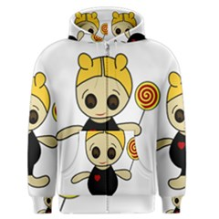 Cute Doll Girl Men s Zipper Hoodie by Valentinaart